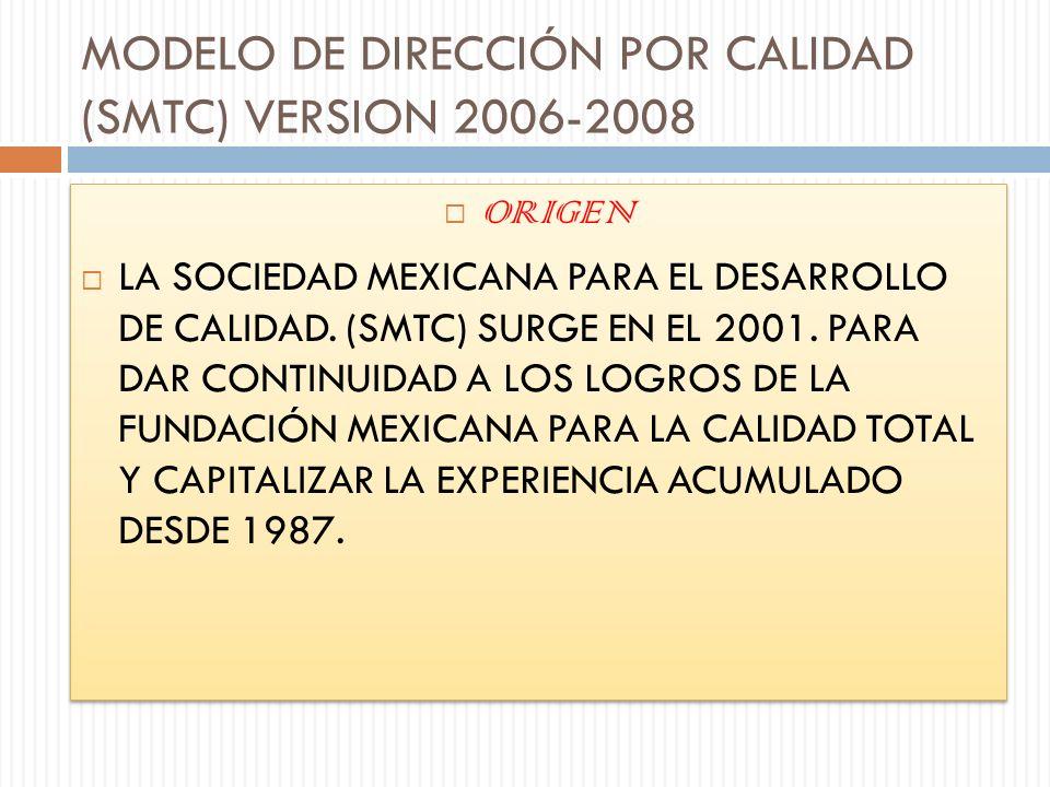 MODELO DE DIRECCIÓN POR CALIDAD (SMTC) VERSION 2006-2008