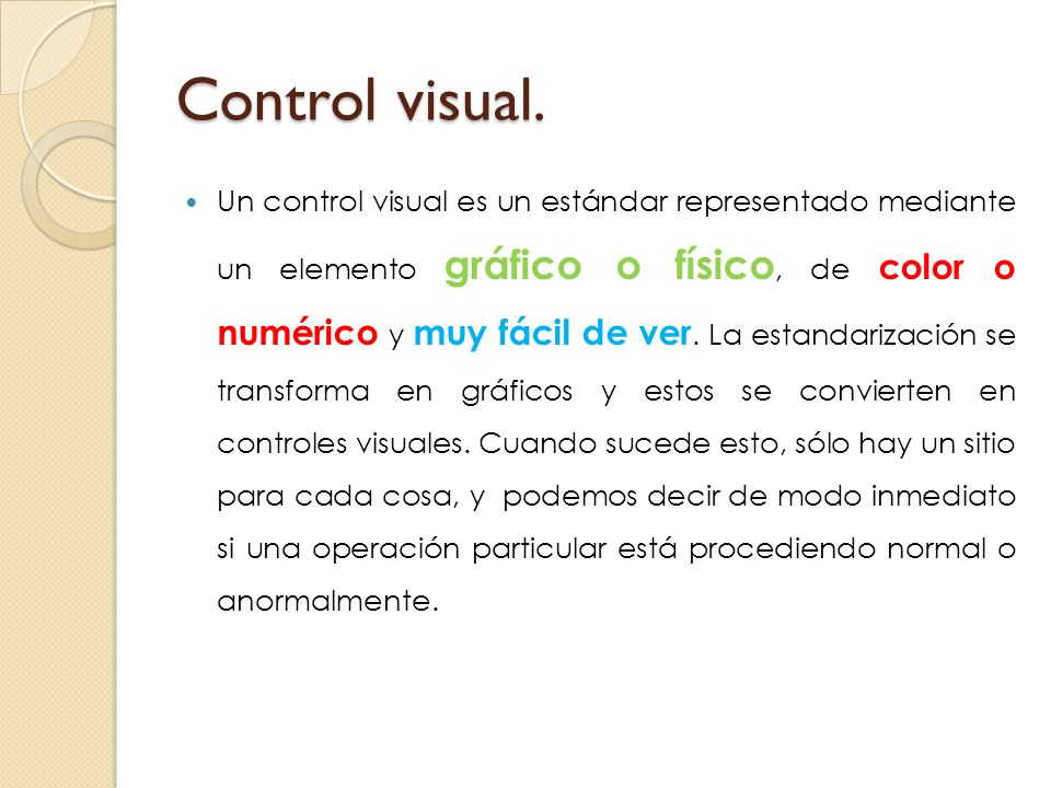 Control visual.
