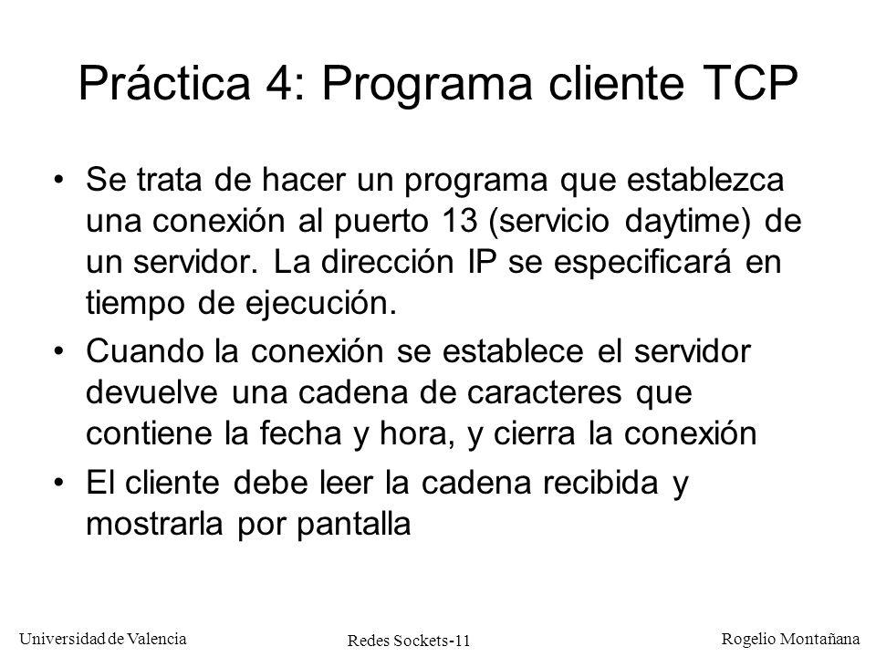 Práctica 4: Programa cliente TCP
