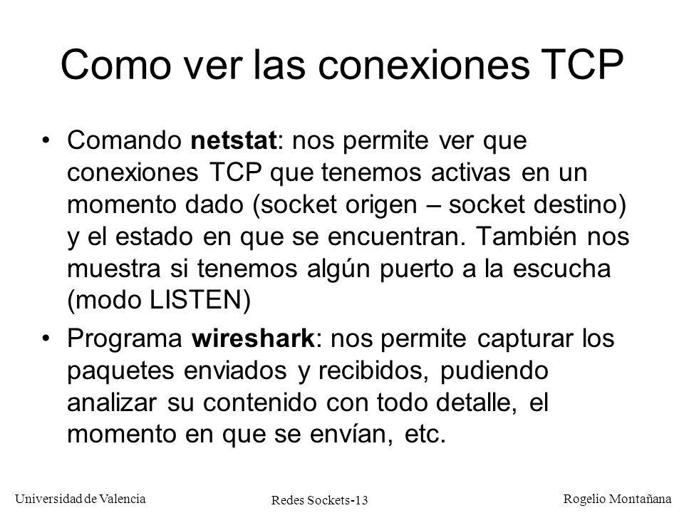 Como ver las conexiones TCP