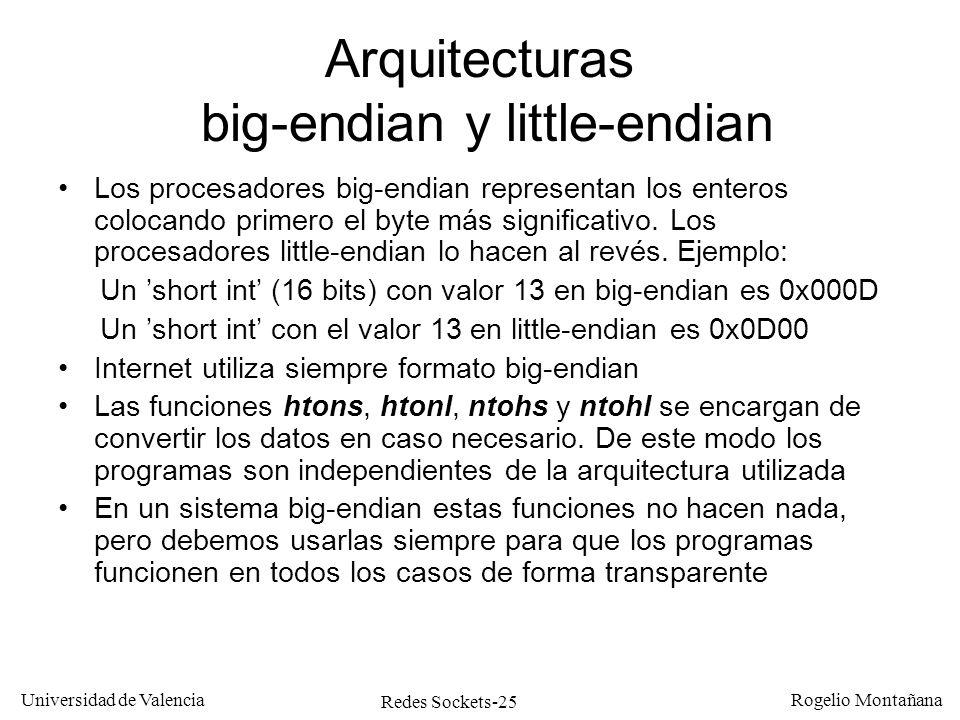 Arquitecturas big-endian y little-endian