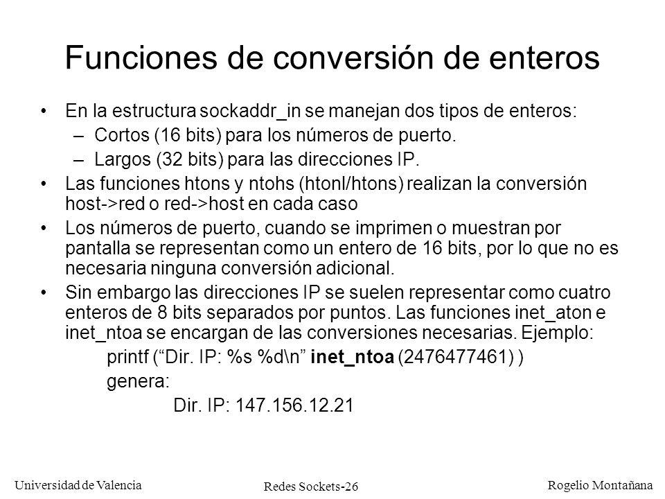 Funciones de conversión de enteros