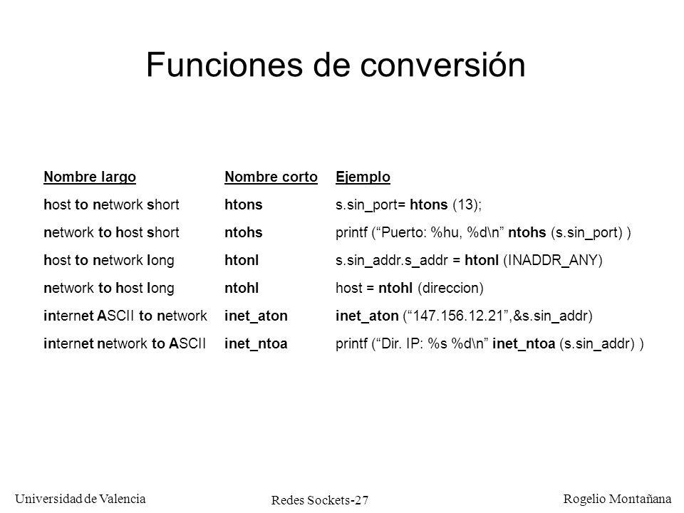 Funciones de conversión