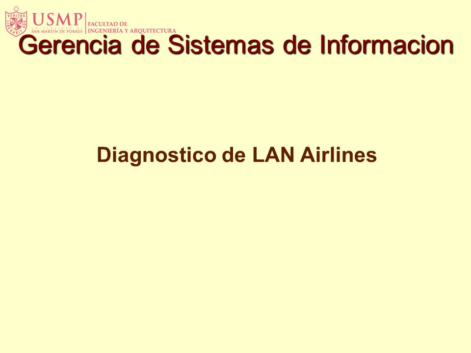 Diagnostico de LAN Airlines