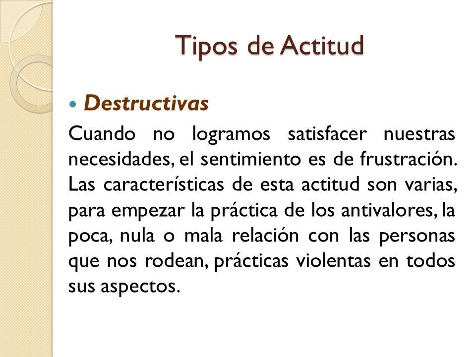 Tipos de Actitud Destructivas