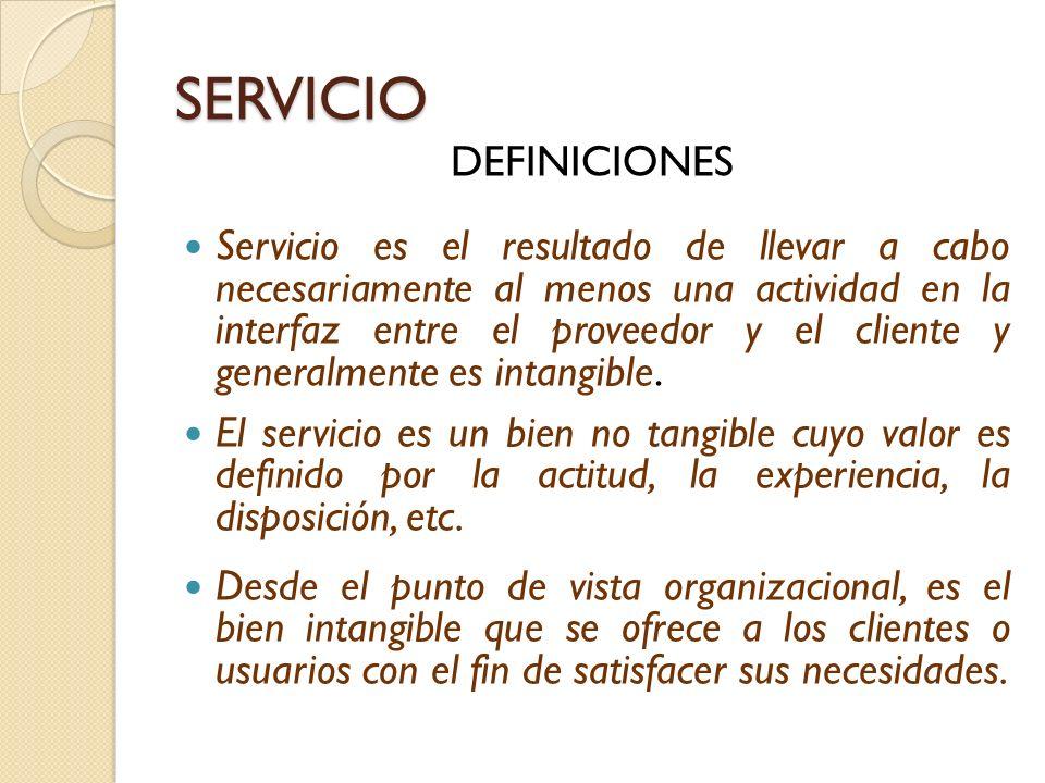 SERVICIO DEFINICIONES