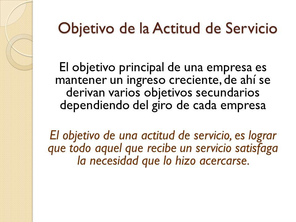 Objetivo de la Actitud de Servicio