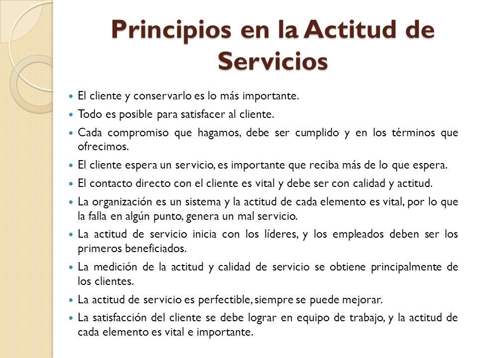 Principios en la Actitud de Servicios