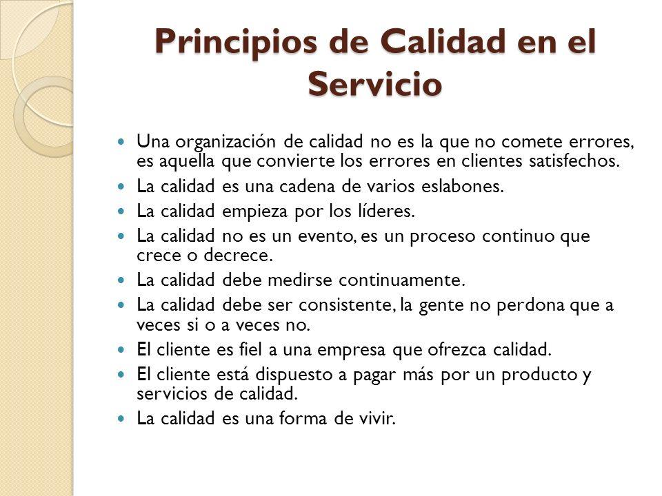 Principios de Calidad en el Servicio