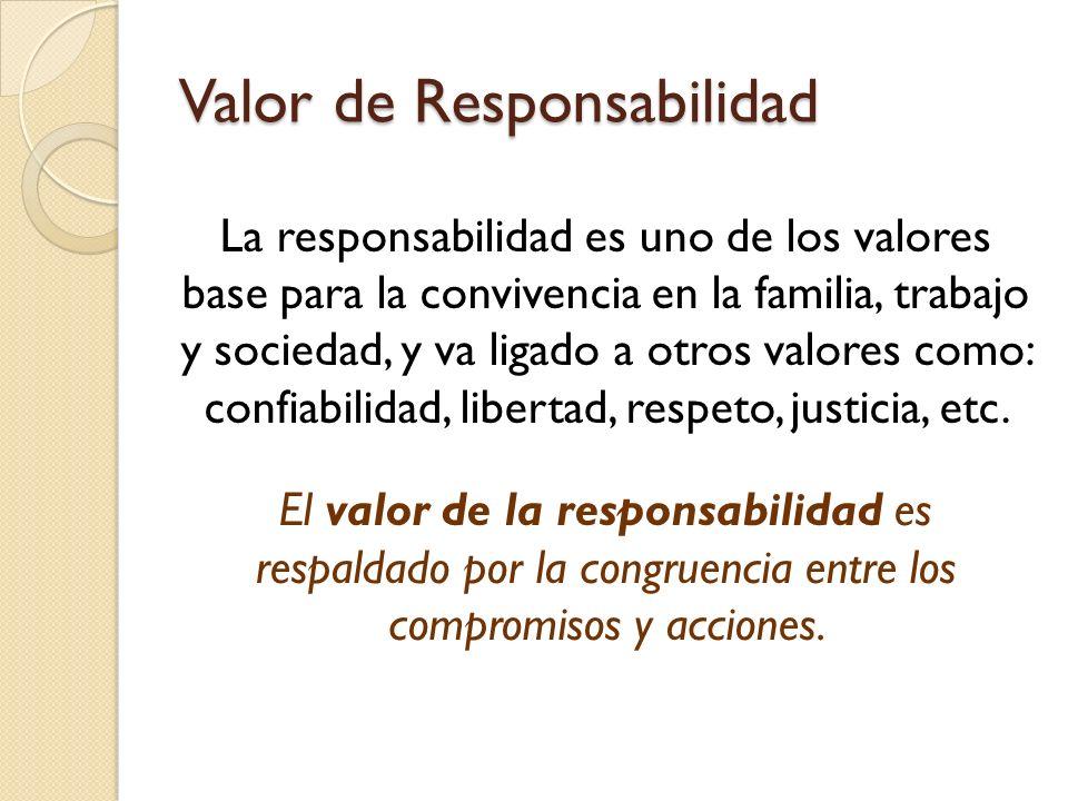 Valor de Responsabilidad
