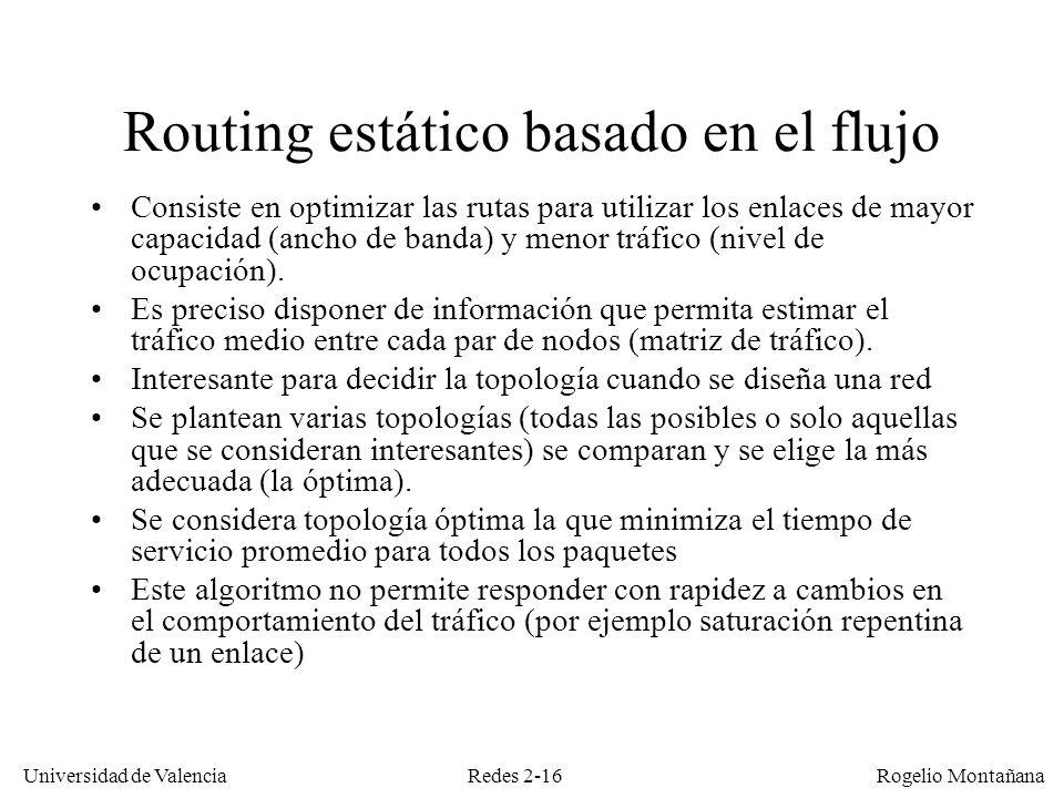 Routing estático basado en el flujo