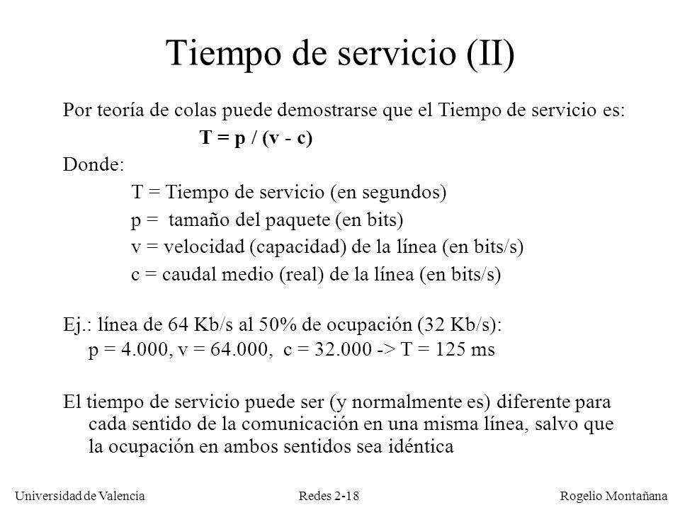 Tiempo de servicio (II)