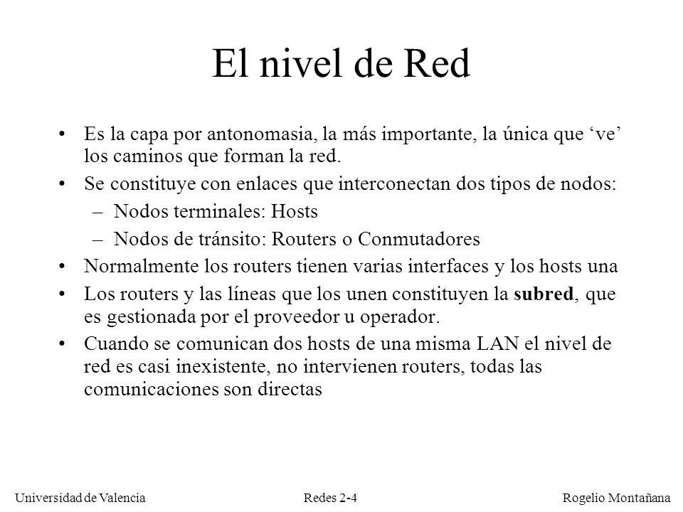 El Nivel de Red: Generalidades