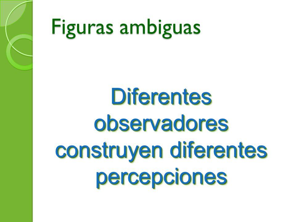 Diferentes observadores construyen diferentes percepciones