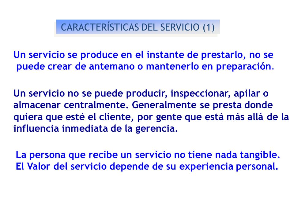 CARACTERÍSTICAS DEL SERVICIO (1)