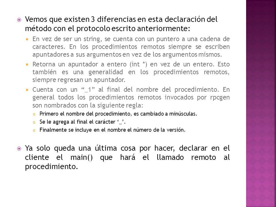Vemos que existen 3 diferencias en esta declaración del método con el protocolo escrito anteriormente: