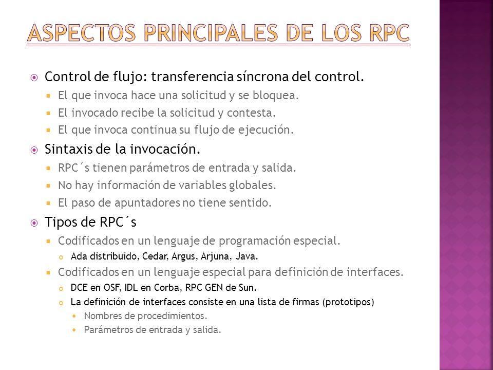 Aspectos principales de los rpc