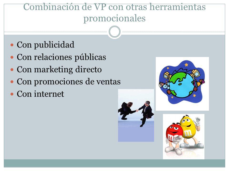 Combinación de VP con otras herramientas promocionales