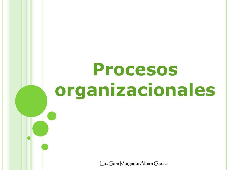 Procesos organizacionales Lic. Sara Margarita Alfaro García