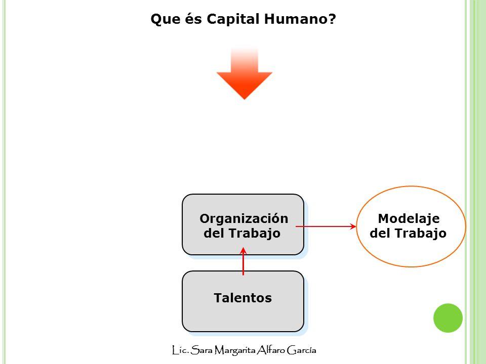 Que és Capital Humano Organización del Trabajo Modelaje del Trabajo