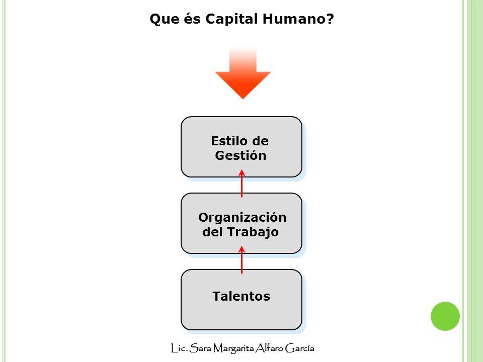 Que és Capital Humano Estilo de Gestión Organización del Trabajo