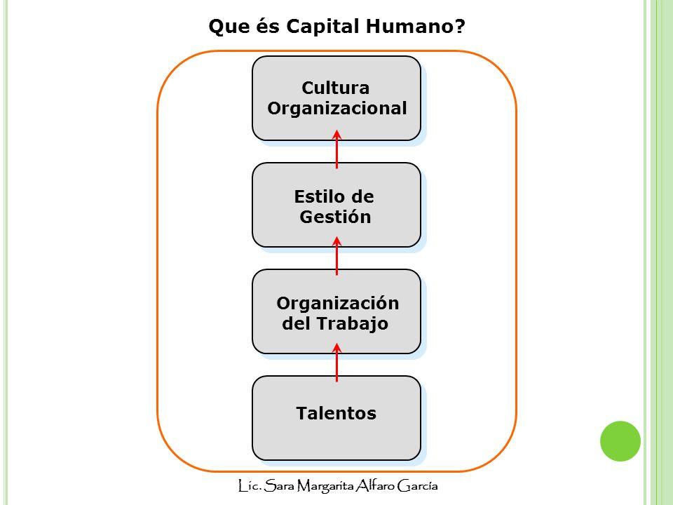 Que és Capital Humano Cultura Organizacional Estilo de Gestión