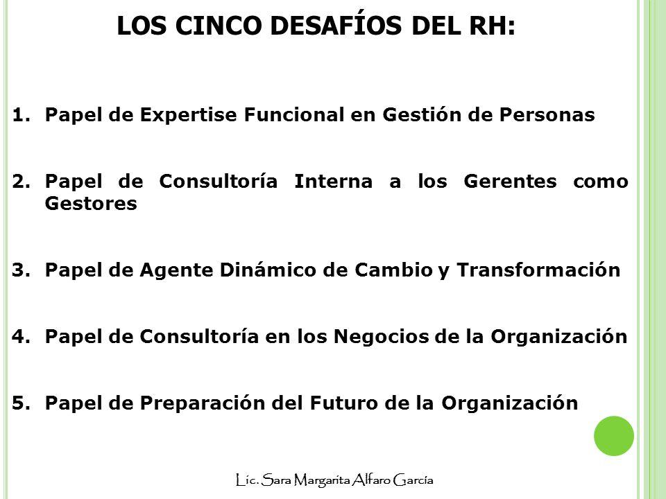 LOS CINCO DESAFÍOS DEL RH: