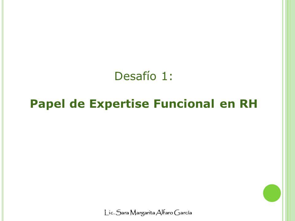 Papel de Expertise Funcional en RH