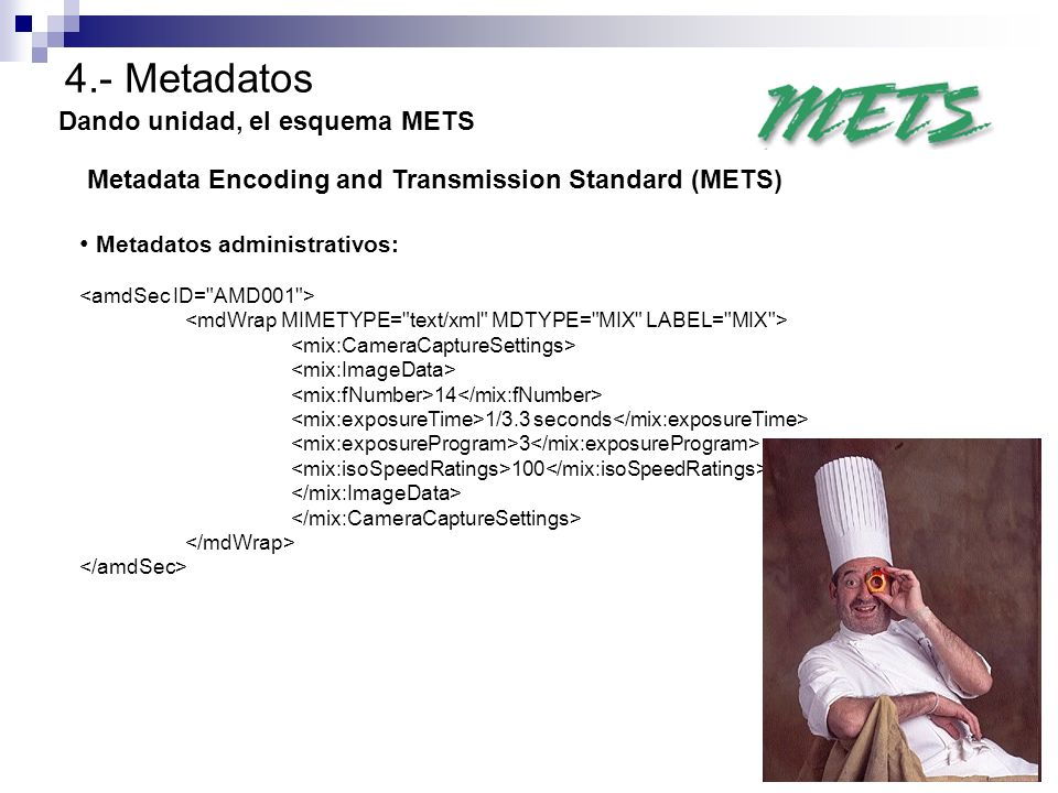 4.- Metadatos Dando unidad, el esquema METS