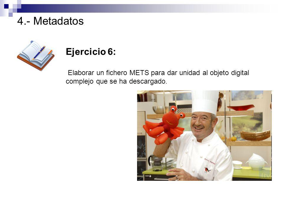 4.- Metadatos Ejercicio 6: