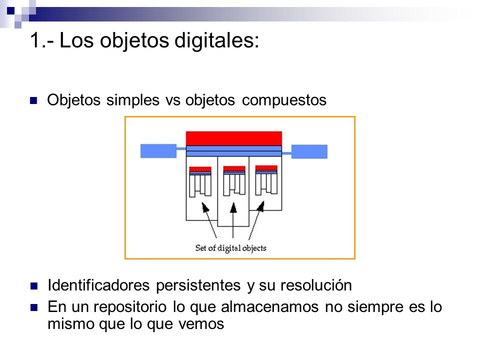 1.- Los objetos digitales:
