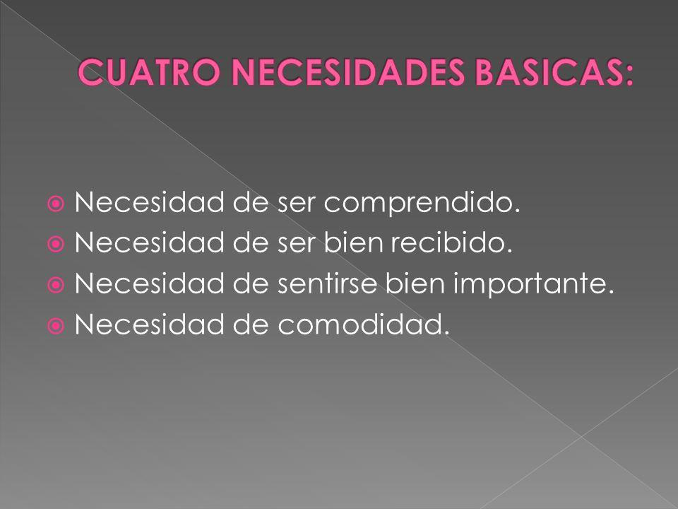 CUATRO NECESIDADES BASICAS: