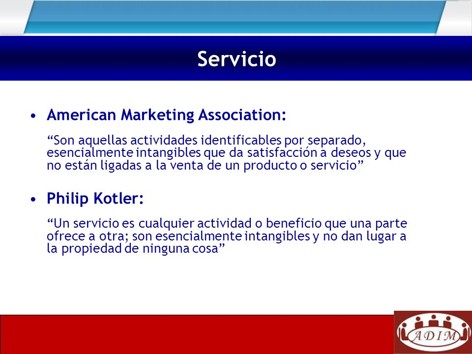 Servicio American Marketing Association: Philip Kotler:
