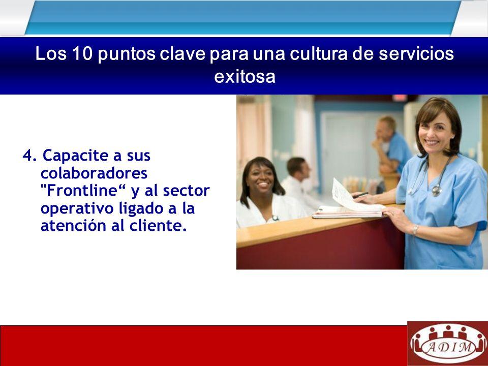 Los 10 puntos clave para una cultura de servicios exitosa