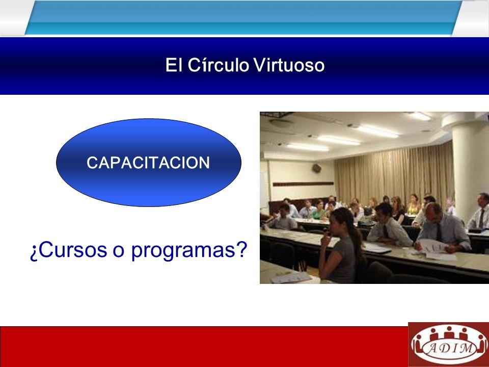 El círculo virtuoso ¿Cursos o programas El Círculo Virtuoso