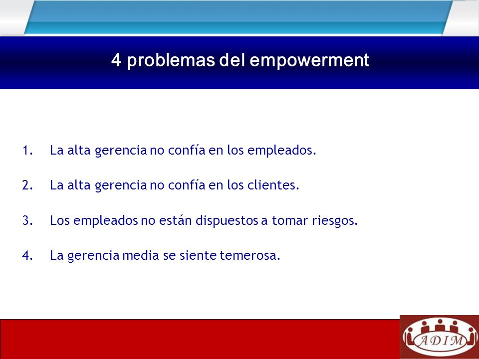 Cuatro problemas del Empowerment