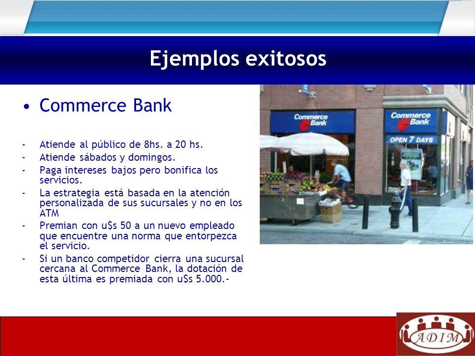 Ejemplos exitosos Commerce Bank - Atiende al público de 8hs. a 20 hs.