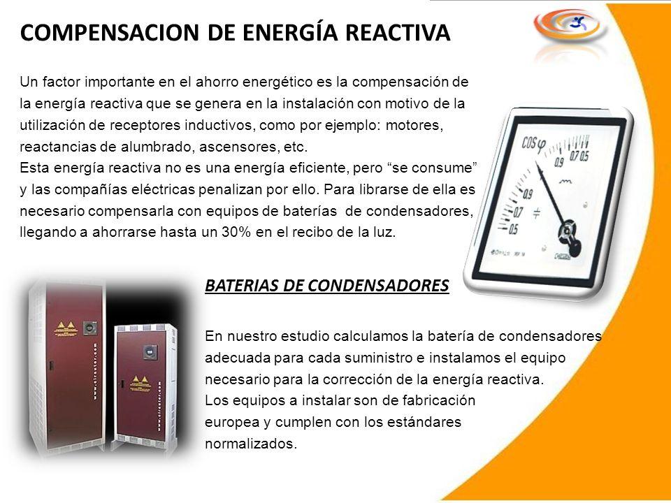 COMPENSACION DE ENERGÍA REACTIVA