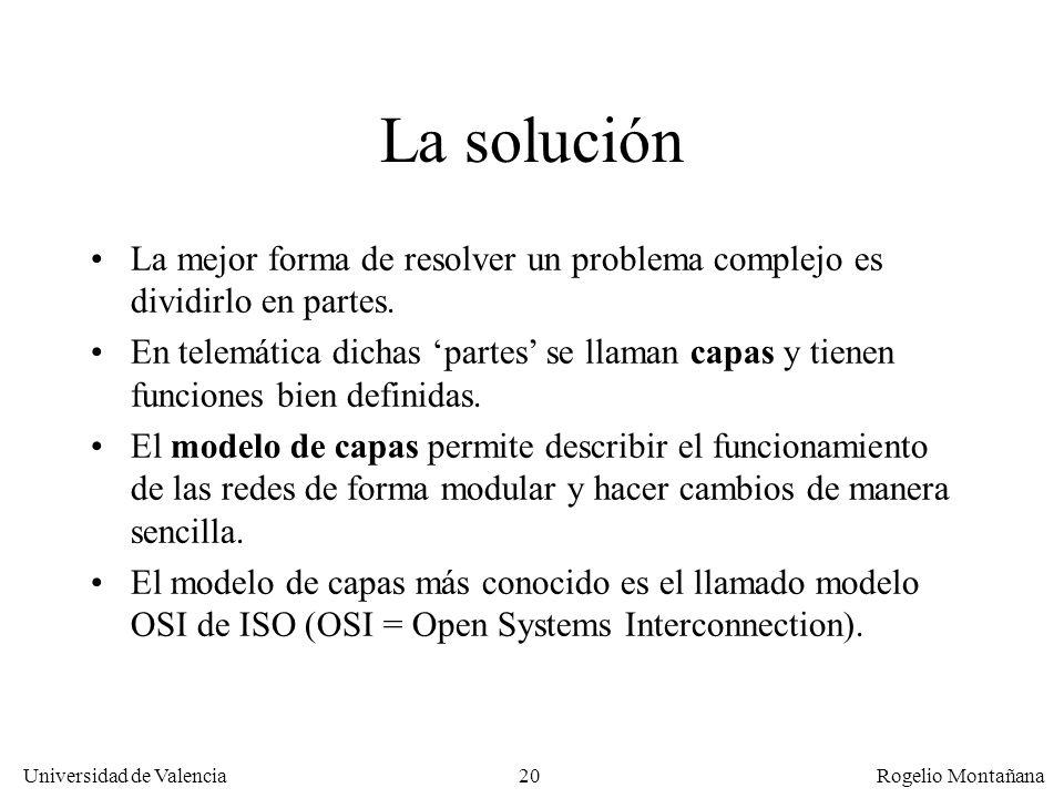 Fundamentos La solución. La mejor forma de resolver un problema complejo es dividirlo en partes.