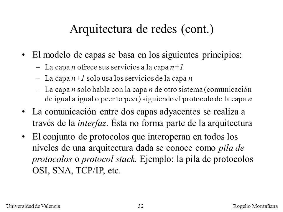 Arquitectura de redes (cont.)