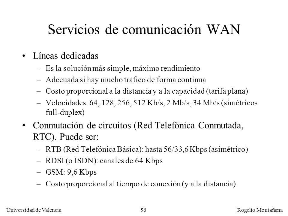 Servicios de comunicación WAN