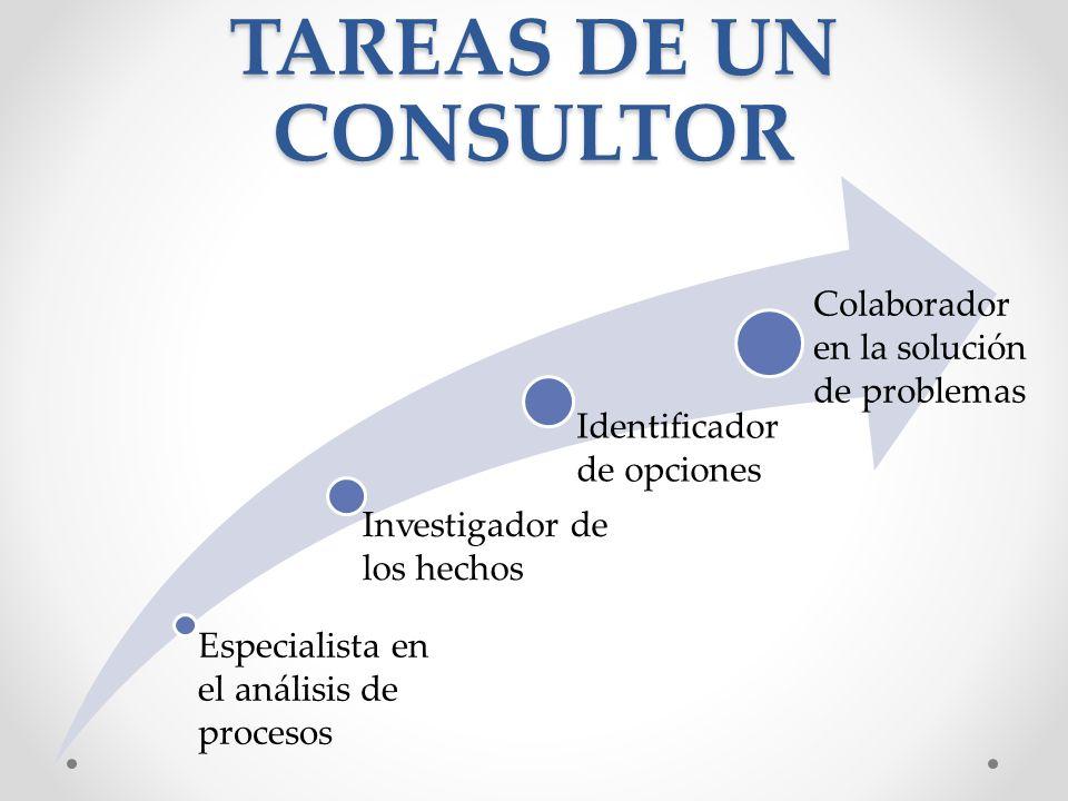 TAREAS DE UN CONSULTOR Colaborador en la solución de problemas