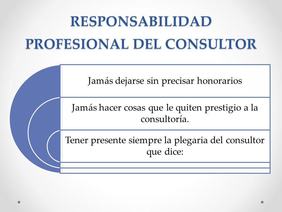 RESPONSABILIDAD PROFESIONAL DEL CONSULTOR