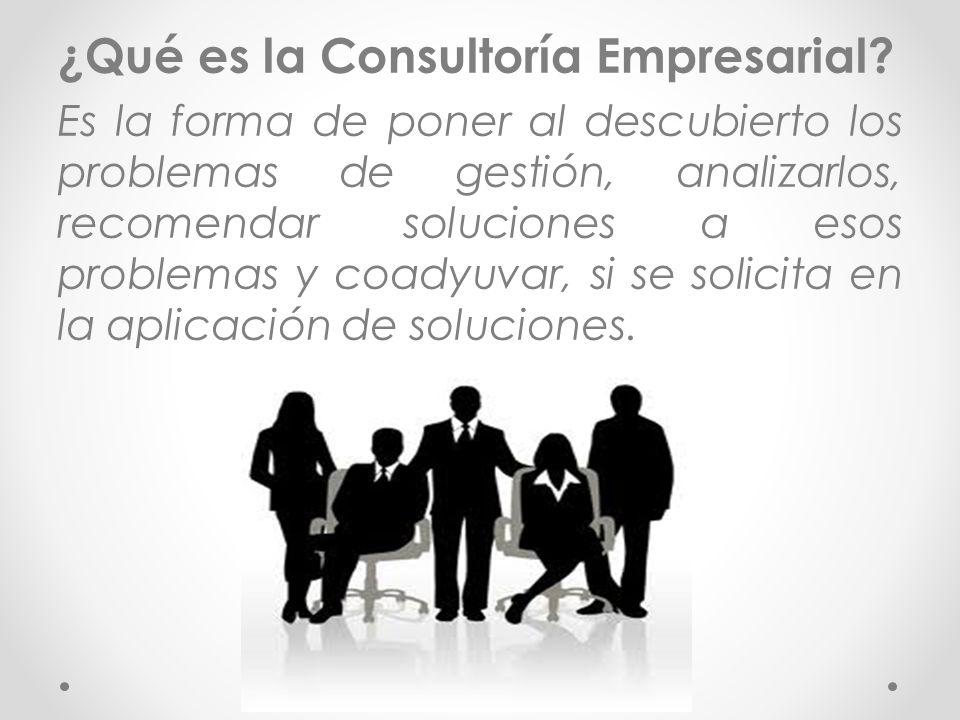 ¿Qué es la Consultoría Empresarial