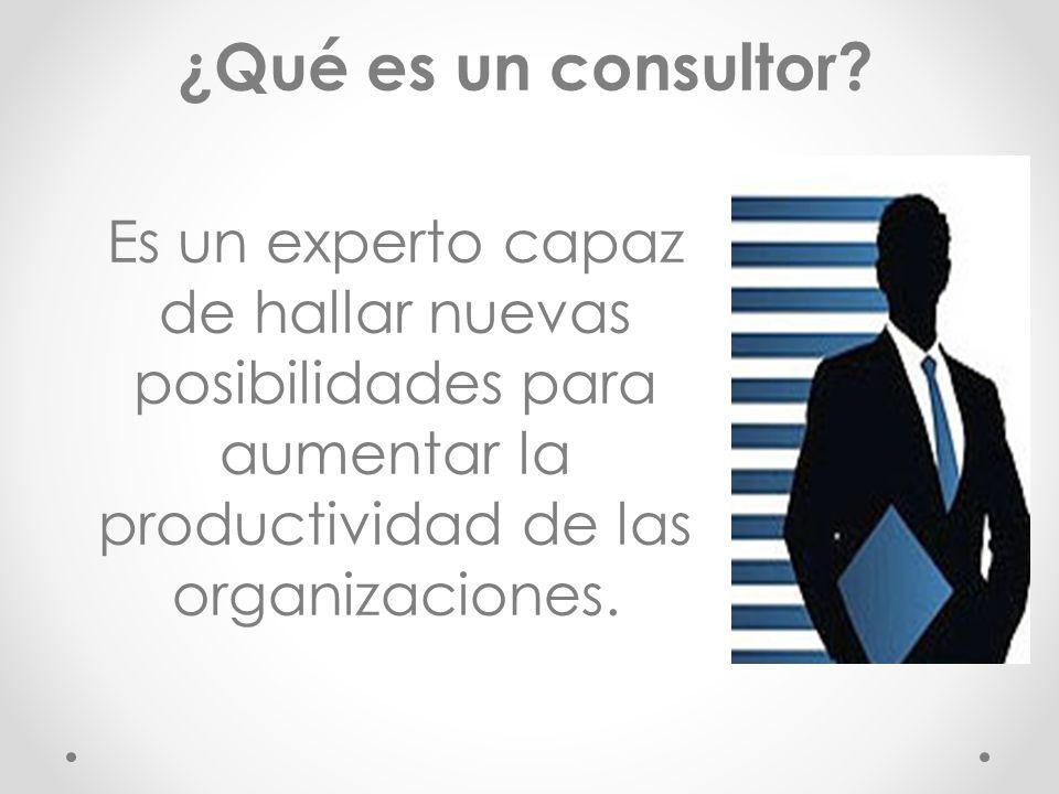 Es un experto capaz de hallar nuevas posibilidades para aumentar la productividad de las organizaciones.
