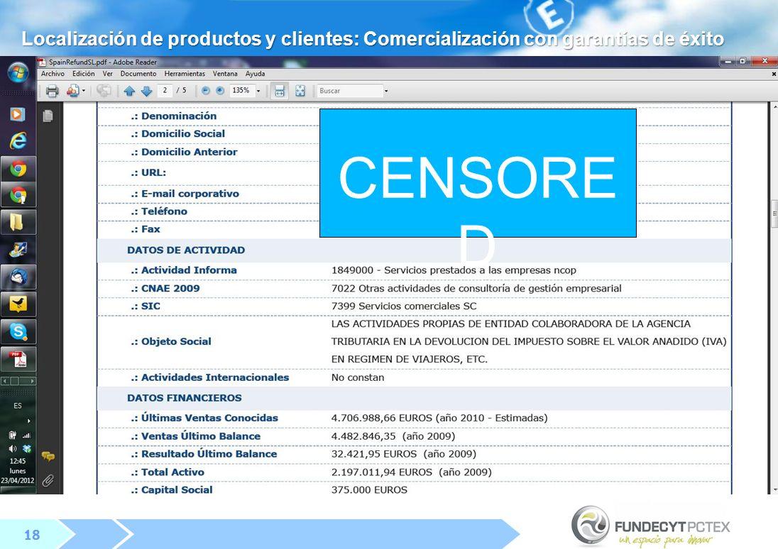 Localización de productos y clientes: Comercialización con garantías de éxito