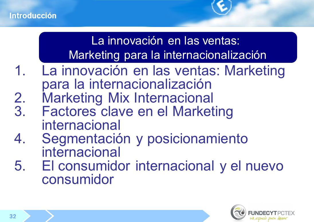 La innovación en las ventas: Marketing para la internacionalización