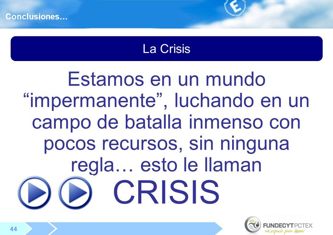 Conclusiones… La Crisis.