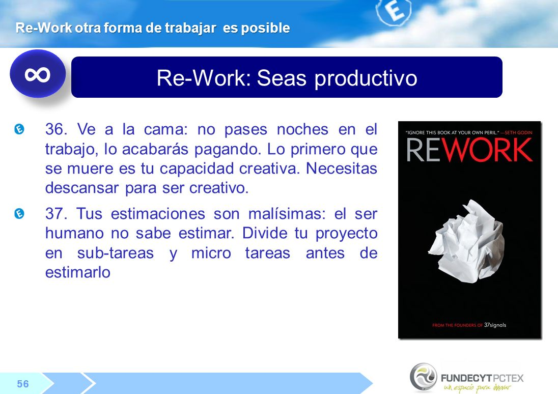 Re-Work: Seas productivo