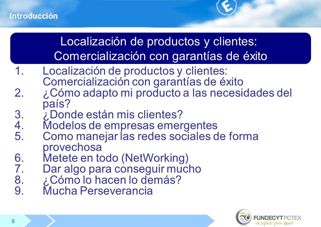 Localización de productos y clientes: